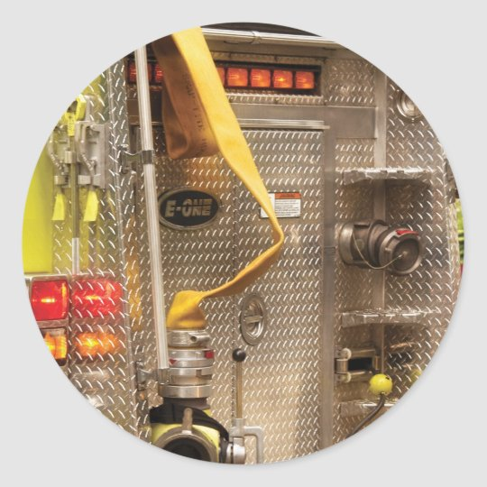 Fireman - Station - 36-3 Classic Round Sticker