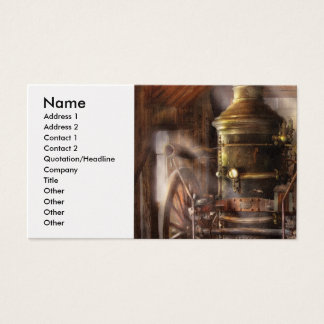 Fireman - Steam Powered Water Pump Business Card