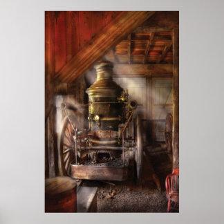 Fireman - Steam Powered Water Pump Poster