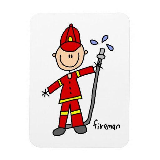 Fireman Stick Figure Magnets