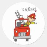 Fireman Stick Figure Sticker