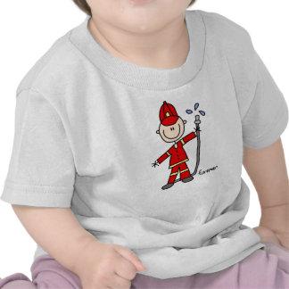 Fireman Stick Figure Tee Shirts