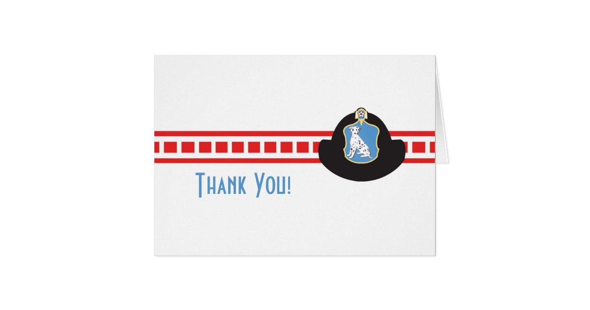 Fireman Thank You Card | Zazzle
