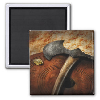 Fireman - The fire axe 2 Inch Square Magnet