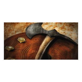 Fireman - The fire axe Photo Card Template
