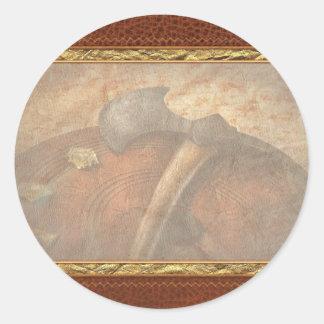 Fireman - The fire axe Classic Round Sticker