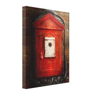 Fireman - The fire box Canvas Print