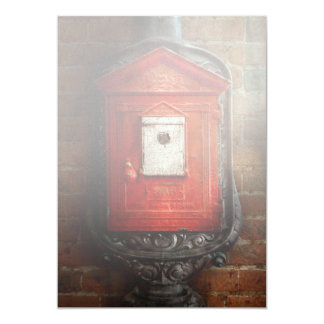 Fireman - The fire box Personalized Invitations