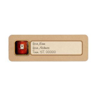 Fireman - The fire box Return Address Label