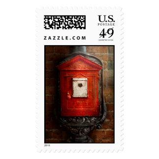 Fireman - The fire box Stamp