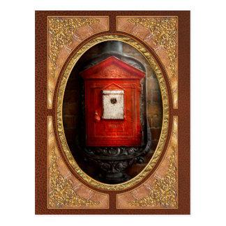 Fireman - The fire box Postcard