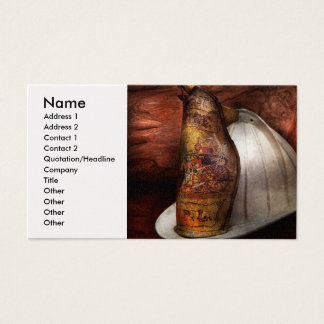Fireman - The fire chief Business Card