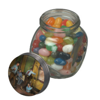 Fireman - The firebell rings 1922 Jelly Belly Candy Jar