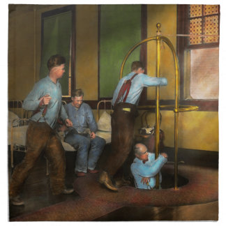 Fireman - The firebell rings 1922 Napkin