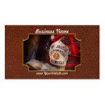 Fireman - The Lieutenants cap Business Card Template