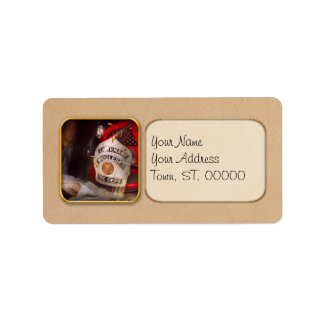Fireman - The Lieutenants cap Custom Address Label