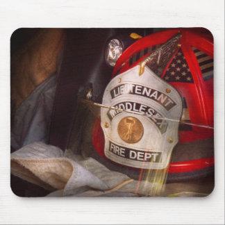 Fireman - The Lieutenants cap Mouse Pad