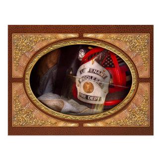 Fireman - The Lieutenants cap Postcard