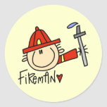 Fireman Tshirts and Gifts Round Stickers
