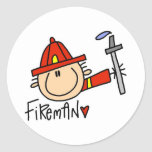 Fireman Tshirts and Gifts Sticker