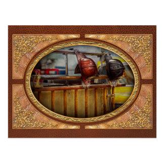 Fireman - Waiting for a Hero Postcard