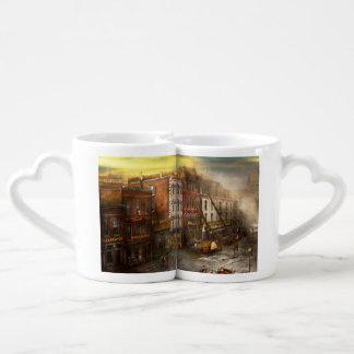 Fireman - Washington DC - Fire at Bedell's Bedding Coffee Mug Set
