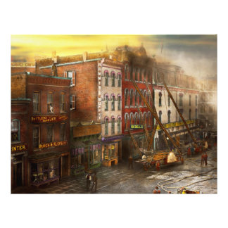 "Fireman - Washington DC - Fire at Bedell's Bedding 8.5"" X 11"" Flyer"