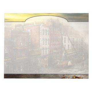 Fireman - Washington DC - Fire at Bedell's Bedding Notepad