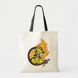 Fireman With A Hose Tote Bag