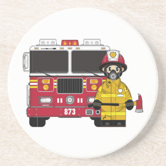 Fireman with Fire Engine Coaster