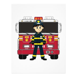 Fireman with Fire Engine Flyer