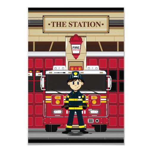 Fire Engine Invitations for best invitations design