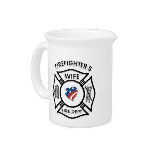Fireman Wives USA Beverage Pitcher