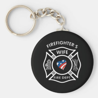 Fireman Wives USA Keychain