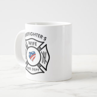 Fireman Wives USA Large Coffee Mug
