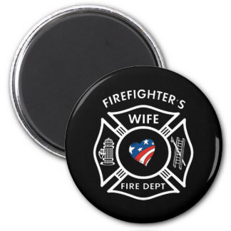 Fireman Wives USA 2 Inch Round Magnet