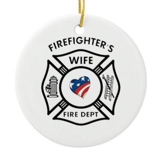 Fireman Wives USA ornament