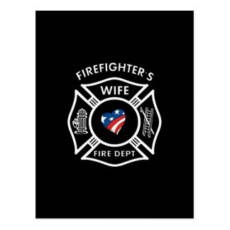 Fireman Wives USA Postcard