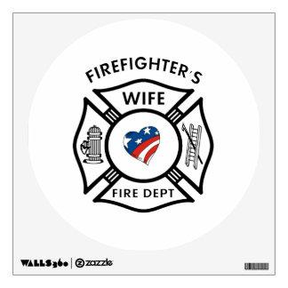 Fireman Wives USA Wall Sticker