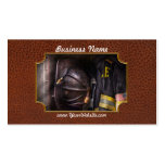 Fireman - Worn and used Business Card Templates