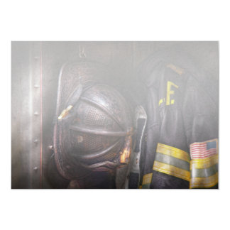 Fireman - Worn and used Personalized Invites