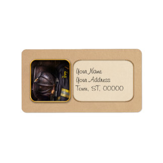 Fireman - Worn and used Personalized Address Labels