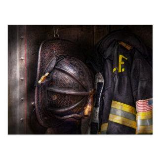 Fireman - Worn and used Postcard