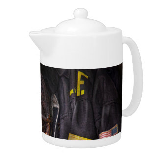 Fireman - Worn and used Teapot