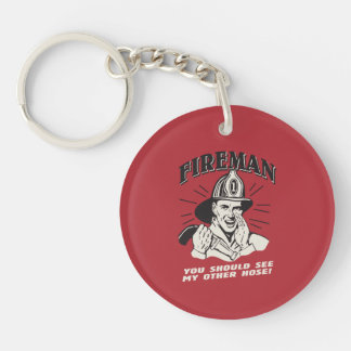 Fireman: You Should See My Other Hose Keychain