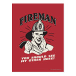 Fireman: You Should See My Other Hose Postcard
