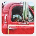 Fireman's Best Friend Square Sticker