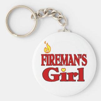 Fireman's Girl Basic Round Button Keychain