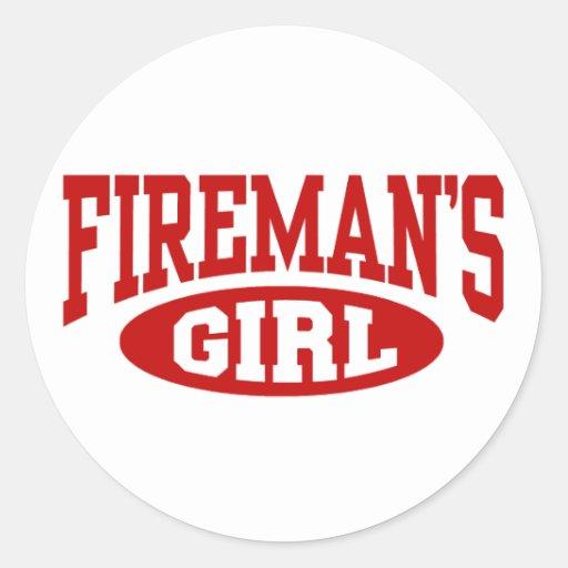 Fireman's Girl Classic Round Sticker