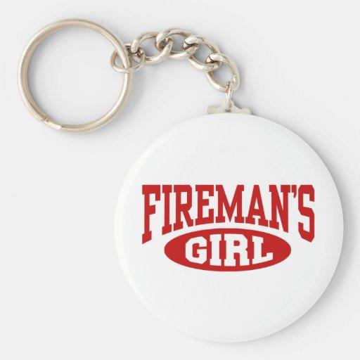 Fireman's Girl Key Chain